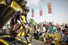 102. Tour de France - Zeitfahren - erste Phase Lizenzfreies Stockbild