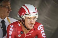 102. Tour de France - Zeitfahren - erste Phase Lizenzfreie Stockfotografie