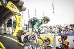 102. Tour de France - Zeitfahren - erste Phase Lizenzfreie Stockfotos