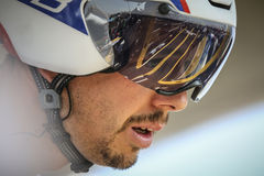 102. Tour de France - Zeitfahren - erste Phase Stockfotografie
