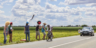 Tour de Francehandling Royaltyfria Foton
