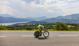 Tour de Francelandskap Royaltyfria Bilder