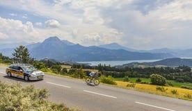 Tour de Francelandskap Fotografering för Bildbyråer