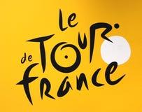 Tour de Francezeichen Stockfoto