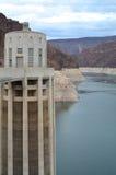 Tour de générateur de barrage de Hoover Photos libres de droits
