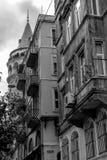 Tour de Galata dans la dinde d'Istanbul Image libre de droits