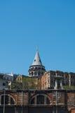 Tour de Galata dans la dinde d'Istanbul Photos libres de droits