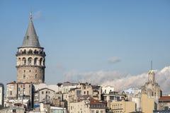 Tour de Galata et appartement, Istanbul, Turquie images stock
