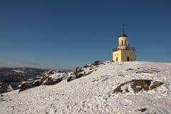 Tour de guet à la colline de Fox r Région de Sverdlovsk Russie Images stock