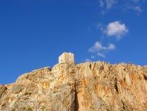 Tour de guet antique contre le ciel Images libres de droits