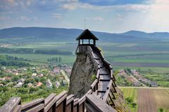 Tour de guet au château de Boldogko en Hongrie Photo libre de droits