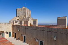 Tour de guet de château de Palmela Photo libre de droits
