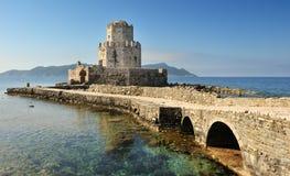 Tour de guet de château, Methoni, Grèce Photographie stock