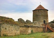 Tour de guet de forteresse Akkerman en Ukraine Image stock