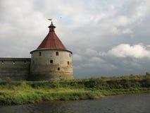 Tour de guet de forteresse de Schlisselburg Image stock