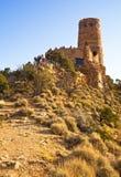 Tour de guet de vue de désert images stock