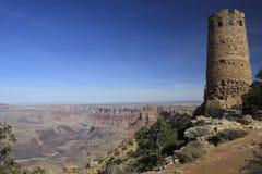 Tour de guet de vue de désert Photographie stock