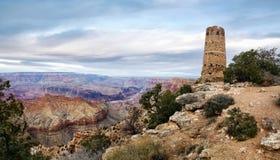tour de guet de vue de désert photo libre de droits