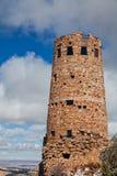 Tour de guet de vue de désert en hiver Image stock