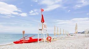Tour de guet pour la délivrance en mer Photos libres de droits