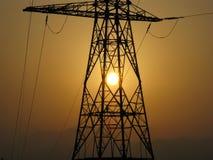 Tour de haute tension de l'électricité Photographie stock libre de droits