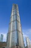 Tour de Jinmao, gratte-ciel de point de repère à Changhaï, Chine Photographie stock