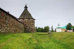 Tour de Korozhnaya de monastère de Solovetsky Images stock