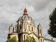 Tour de l'Eglise Saint-Augustin à Paris, France Photographie stock libre de droits