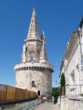 Tour de la Lanterne in la Rochelle, France. The Tour de la Lanterne was built in 1445-1476 as a lighthouse, with an octagonal top (view). The tower is 230 feet Royalty Free Stock Photos