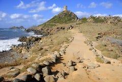 Tour DE La Parata, Ajaccio, Corsica, Frankrijk Stock Afbeeldingen