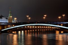 Tour de la Russie Moscou Kremlin, le capital, ponts Images libres de droits