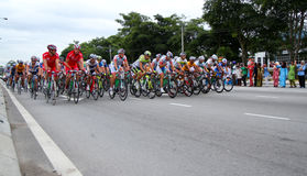 Tour de Langkawi. RAWANG-JANUARY 28: Cyclists from various teams cycle during Stage 6 of the Tour de Langkawi from Rawang to Putrajaya on January 28 2011 in Stock Images