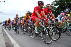 Tour de Langkawi 2011. RAWANG-JANUARY 28: Cyclists from various teams cycle during Stage 6 of the Tour de Langkawi from Rawang to Putrajaya on January 28 2011 in Stock Images