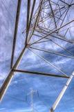 Tour de ligne à haute tension (couleur) Image libre de droits
