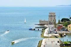 Tour de Lisbonne, Belem - le Tage, Portugal photographie stock