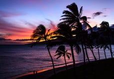 Tour de maître nageur au coucher du soleil Images libres de droits