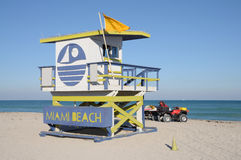 Tour de maître nageur chez Miami Beach Images libres de droits