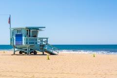 Tour de ma?tre nageur ? la plage de Santa Monica image libre de droits