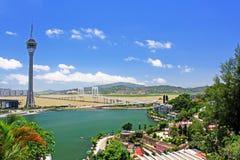Tour de Macao et paysage urbain, Macao, Chine Image libre de droits