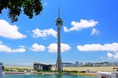 Tour de Macao et paysage urbain, Macao, Chine Images stock