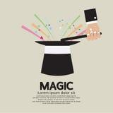 Tour de magie du magicien illustration stock
