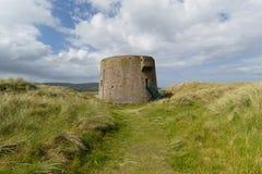 Tour de Martello, Magilligan, Irlande du Nord Photos stock