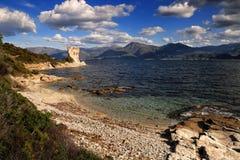 Tour de Martello, St Florent, Corse Image stock