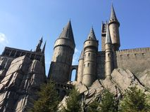 Tour de montagnes russes d'Osaka Japan Universal Studios Castle du monde de Harry Potter Photo libre de droits