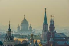 Tour de Moscou Kremlin, cathédrale du Christ le sauveur photos libres de droits