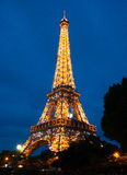 tour de nuit d'Eiffel image stock