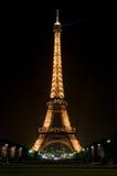 tour de nuit d'Eiffel Photo stock