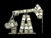 Tour de pétrole effectuée à partir de l'argent Photos libres de droits