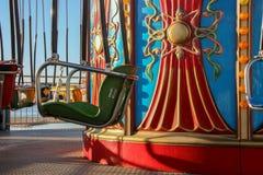 Tour de parc d'attractions sur la promenade en Californie images libres de droits