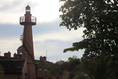 Tour de phare dans la visibilité directe Suenos, Photo libre de droits